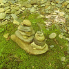 The elusive hippie has been nearby and leaves this little cairns.