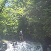 Another dayhiker at Wildcat Falls.