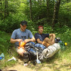 I run into these friendly backpackers named Eric and Bo taking a break in the high gap of Naked Ground.