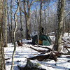 My Keron camp on Rocky Top on State Line Ridge.