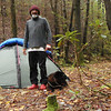 Here I am in Camp 2 on the North Fork trail.