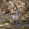 John is the last backpacker to cross the Brookshire.
