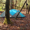 Cascade Winter Camp gets occupied by the fishermen and their Mt Hardwear tent.