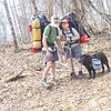Here we are at the start of the trip and I'm carrying two tents and all the food along with my usual 3.10lb Base Camp Thermarest.