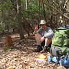 On my first day out I run into old backpacking buddy Hootyhoo pulling a four day hike along the South Fork and the Pine Ridge trails. He stops into my camp and decides to set up nearby for a night.