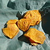 A great trail snack---organic dried mangoes.