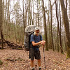 On Day 10 I have a long hard slog in a cold rain and climb 2,000 feet on the Jenkins Meadow trail to Haoe Ridge and Toad Camp.  Jenkins is another of the Slickrock 'nutbuster' trails and rough.  It's a steep beast with some awful trenches that never seem to end and as bad as anything on the AT.