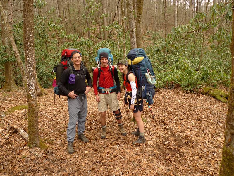 Trip leaders Tom, David and Lexi.