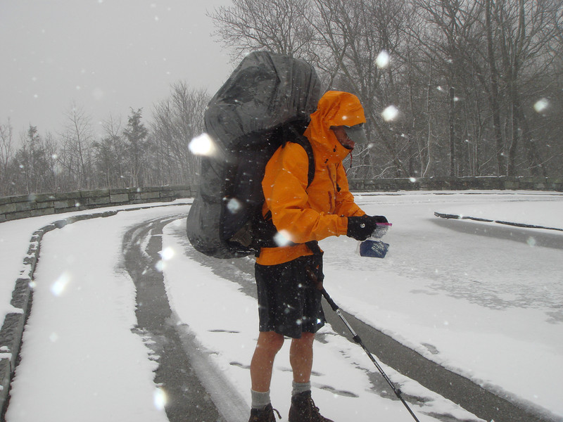 It's time to stow the camera in a ziploc and hike 2 miles to Beech Gap and let Little Mitten drive off the mountain before the snow mounts up.