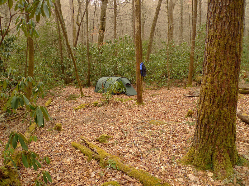 Another shot of the tent in the Low Dog Camps on the Little Santee Creek.