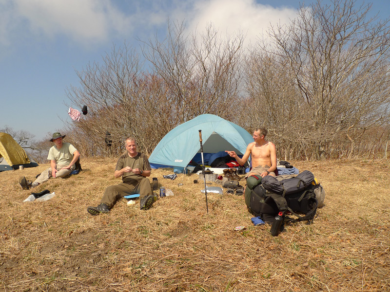 On Day 14 I hike three miles and get atop Gorak Hill where I run into Rob on the right, an old backpacking buddy from 2006, so I decide to hang out with him and his buddies for the day and set up at Raven Camp.