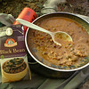 Here's a new meal for dinner and it's Dr. McDougall's black bean soup.  I brought three of them at 18oz each---ouch!