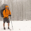 Another shot in the cold snow at Beech Gap on a March trip.  The hiking pole comes in handy as does the Arcteryx jacket.