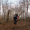 Here I am on my way off Gorak Hill down to Cherry Log Gap and the start of the North Fork trail.  There is still a lot of trail work that needs to be done.