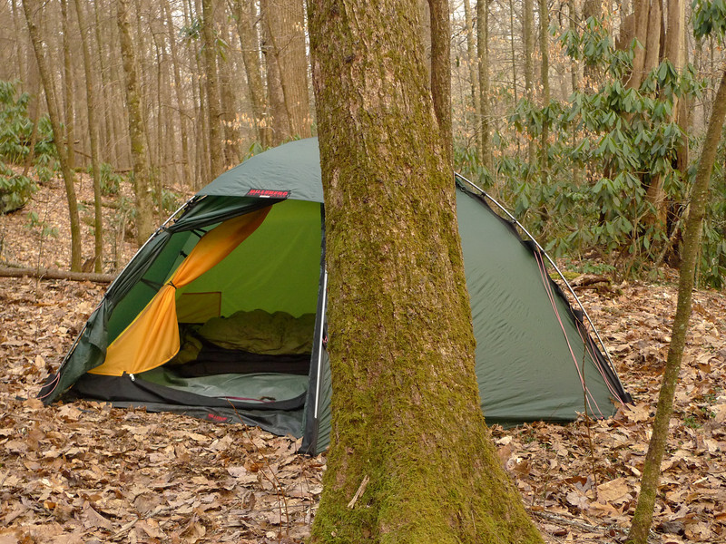 Staika Boy's Hilleberg tent in full view.