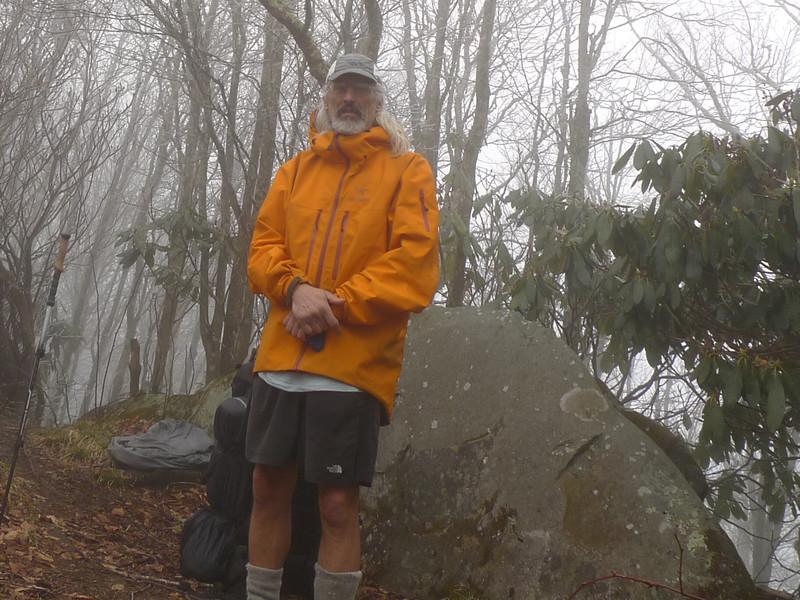 Another shot of my Arcteryx rain jacket on top of Haoe Peak.