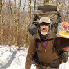 On Day 7 I pack up the gear and get on Four Mile Ridge and stop at 5,000 feet to show off a bag of dried mangos.