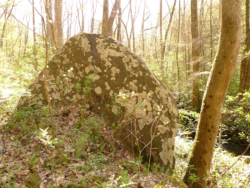 The next day I head up Sycamore and pass the Rain Rock where I spent an afternoon hiding from a storm.