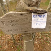 Just in case my backpacking buddy Randy comes up I leave him a note.