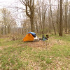 I get into the Citico wilderness and set up at Barrel Gap and prepare for another storm.