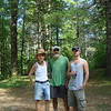 "Here I am with Little Mitten's son Andrew ""Blade"" and her dad Arrants at the cabin."
