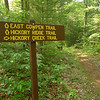 A similar sign further up the trail.