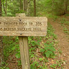 I get on the BMT leaving Thunder Rock campground but it's also a trail with several names and numbers---305, 330 and 303.