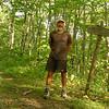 I seem happy because I found a 45,000 acre wilderness.  I'm wearing my Icebreaker merino t-shirt.