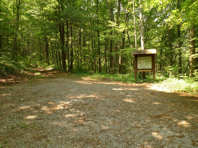 The trail kiosk to Chestnut Mt.