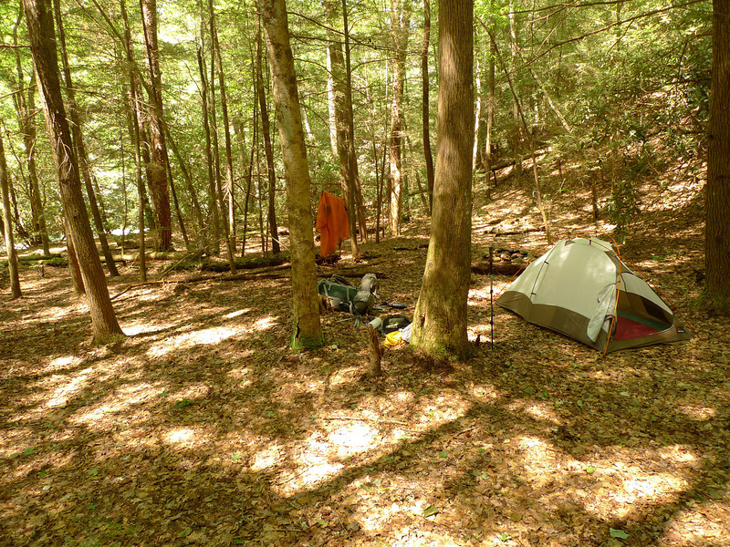 After five Conasauga fords I reach this campsite for the night.