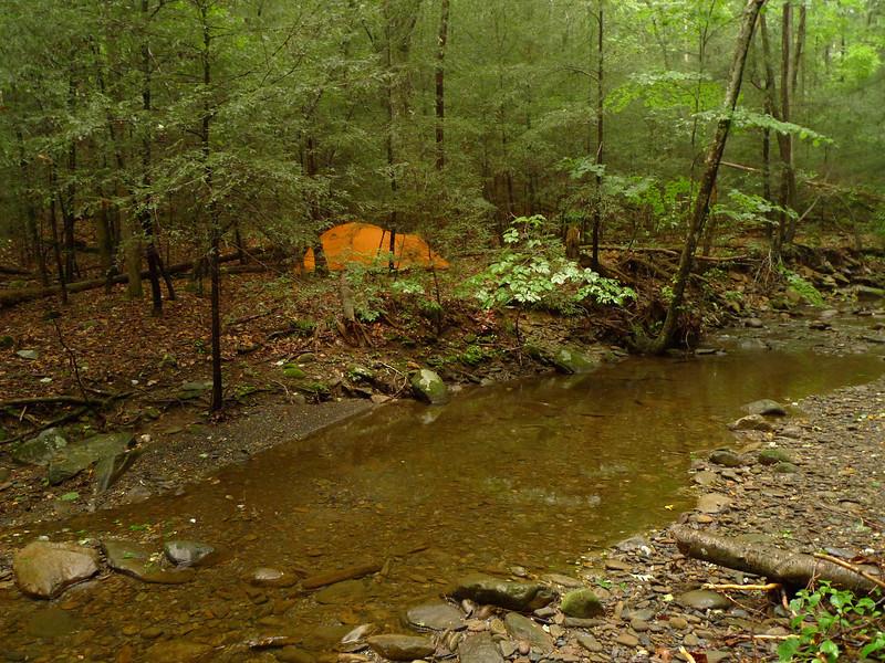 Beech Bottom Creek is low but can get wild.