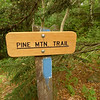 The haul from Old Orchard to this trail jct is tough and rocky but it finally puts me on the high ground.  The Pine Mt trail used to be the old AT.