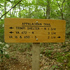 I am heading south from Hiway 16 and the Mt Rogers NRA so of course I see these various trail signs.