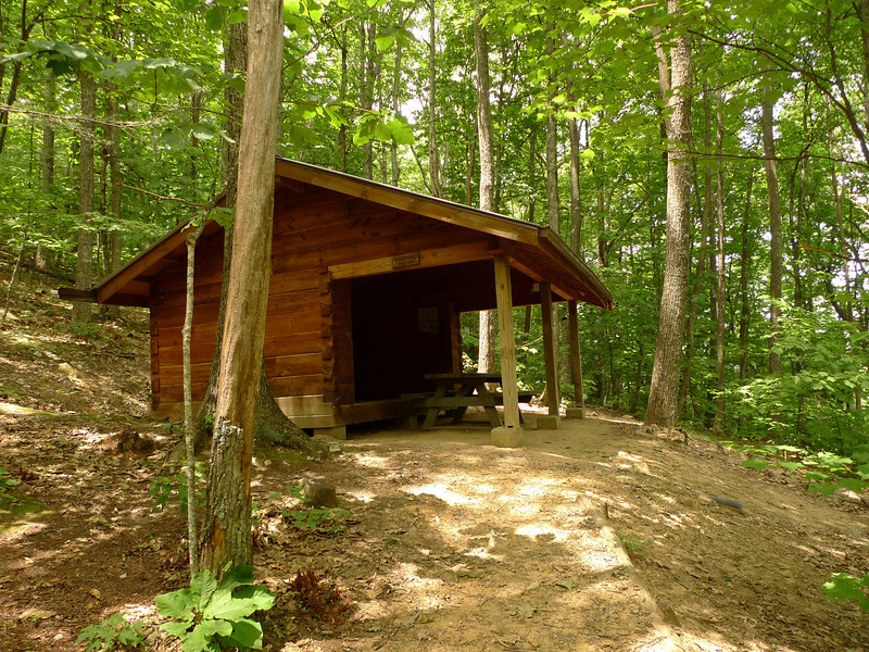 I finally make it to another carport box, this time it's called the Hurricane Mt shelter, where I throw off the pack and get several liters of water for a further campsite up on the mountain.  Who wants to camp with a bunch of know it all newbs?