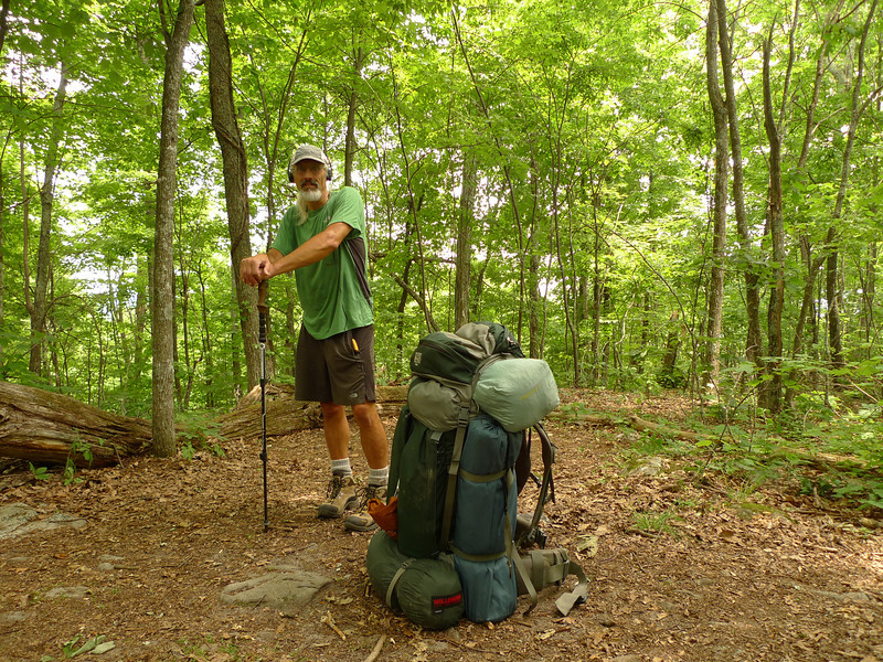 Here I am by the big rocks south of the Mt Rogers NRA.