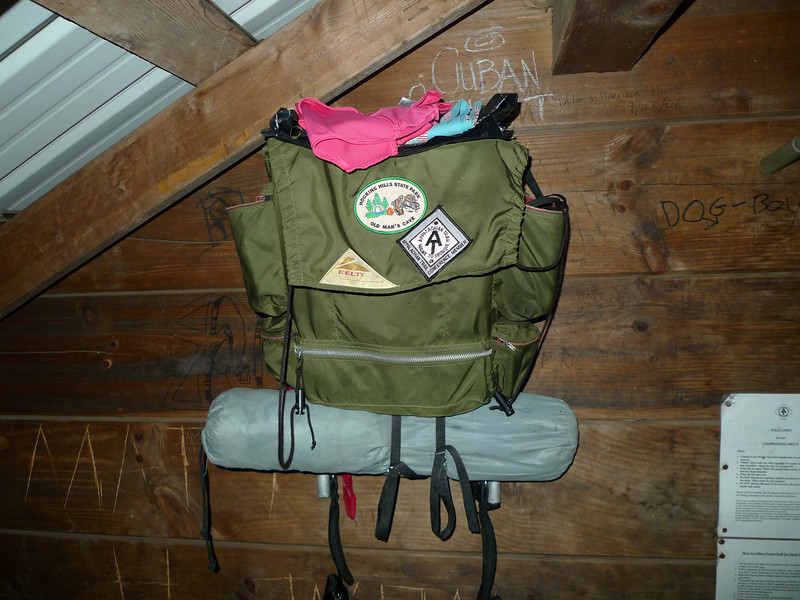 Matchbox's old Kelty pack.  I do a dayhike from my camp and see two AT backpackers and one has this old Kelty, circa 1975?