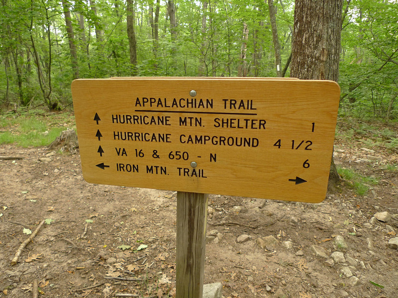 Another trailsign on Hurricane Mt.