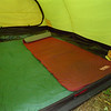 Here's the inside of the aircraft hanger I mean the Keron tent with the required inside tarp and the Prolite Plus pad.