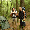 YOSEF AND ERIC---Two backpackers pass by my North Fork camp and they are from Gainesville Florida out for a 4 day trip.