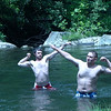 The boys, Blade and Jerm, perform the all important Mister Tellico power clenchings.