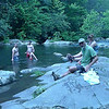 Later in the day Jeremy and Blade and Kirstin all hang out on Tellico River.