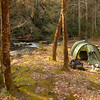 LOG GATE CAMP---A new spot for me but a very nice one with the good sound of water all night.