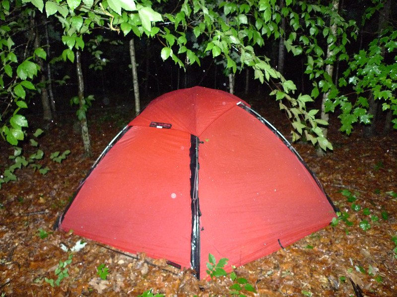 Little Mitten owns a tiny sliver of land on Riceville Mt in Tennessee and so I explore it and spend a couple nights on top in my red Hilleberg Staika.  Of course my first day's hike is in the rain.<br /> <br /> McMINN COUNTY<br /> OVERNIGHTER<br /> <br /> Trip 133<br /> <br /> May 3-4-5  2012<br /> <br /> ON RICEVILLE MOUNTAIN