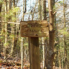 An old trail sign.