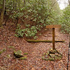 And finally the trail reaches the West Fork of Rough Creek which is shown by this BMT trailpost.
