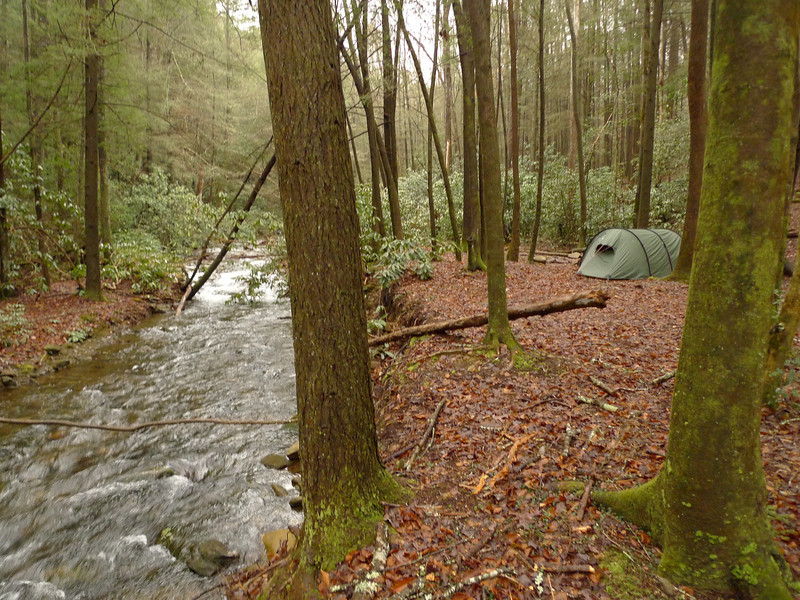 And so my first night is spent on Rough Creek which is home again.