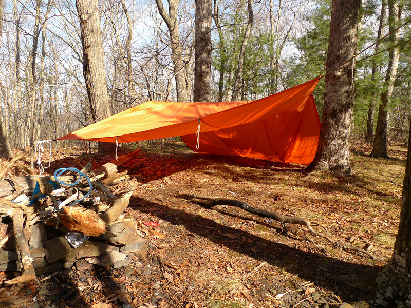 At the end of the Fork Ridge trail I find this abandoned camp and trash.