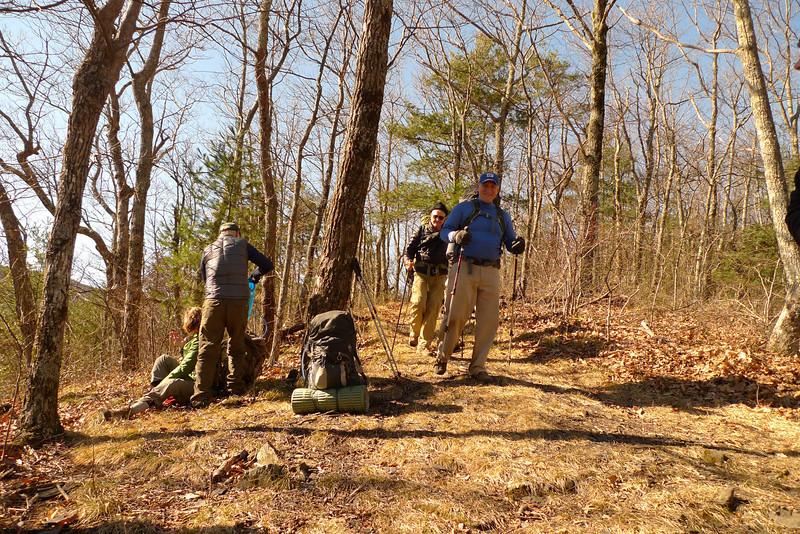 Bob Butterfield reaches the Fork Ridge jct.