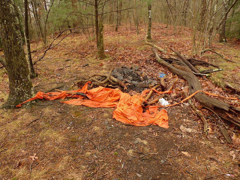 """Remember this tarp from Trip 142?  See below link.  Well, here it is a month later.  See, I tell ya the wind gets crazy up in the Frog.<br /> **<br /> **<br /> **<br /> <br /> <a href=""""http://tipiwalter.smugmug.com/Backpacking2013-1/18-Days-in-the-Big-Frog/i-zbTXkWr/0/L/TRIP%20141%20051-L.jpg"""">http://tipiwalter.smugmug.com/Backpacking2013-1/18-Days-in-the-Big-Frog/i-zbTXkWr/0/L/TRIP%20141%20051-L.jpg</a>"""