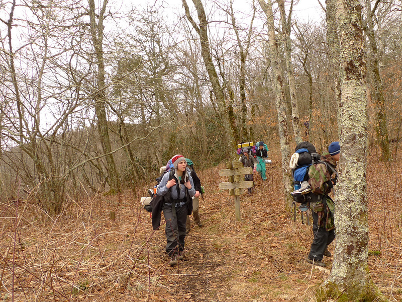 Kim's group comes down off the Bob and Four Mile Ridge.